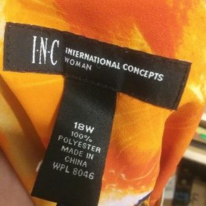 INC International Concepts Tops - 🌼2 for 30🌼Orange printed tank